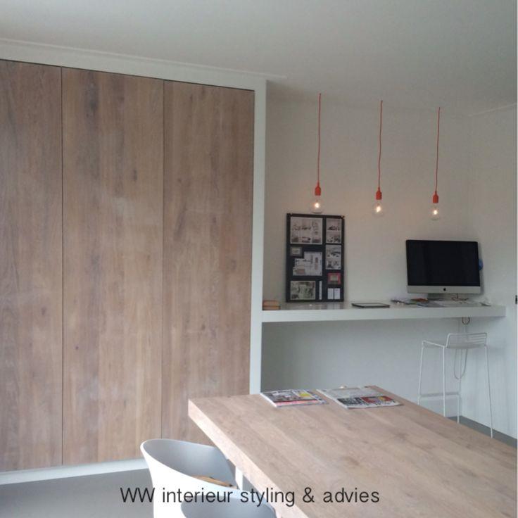 Werkplek & kastruimte in keuken  WW interieur styling & advies