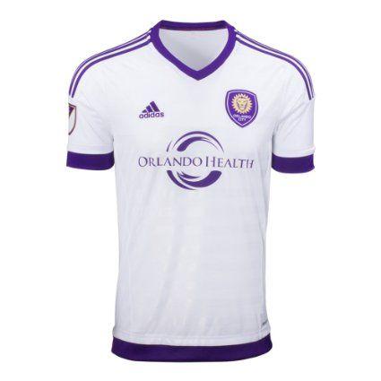 Adidas Climacool Football Jersey: 2015 Orlando City Away Stadium Soccer Fan Shirt MLS T-Shirt FC Men Large