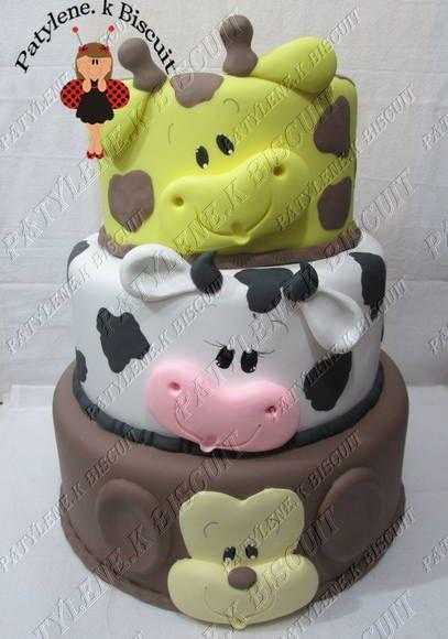 Baby face animal cake
