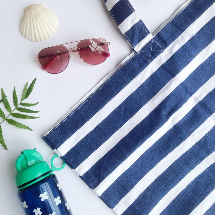 Simply loving this nautical beach tote! Generous in size to fit all your beach gear.  www.rosaliving.co.nz