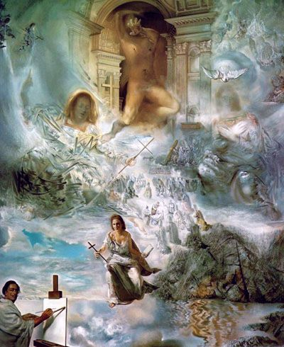 The Ecumenical Council is a surrealist painting by Spanish artist Salvador Dalí completed in 1960. It is one of his masterpieces, taking two years to complete and very large at 299.7 by 254 centimetres