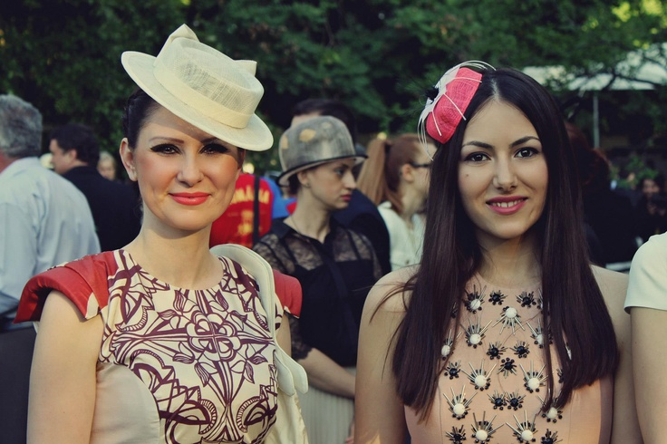 Ioana Voicu of www.mauvert.com and milliner Kristina Dragomir attend The Royal Garden Party on The 10th of May in Bucharest, Romania. Full coverage of the event on http://mauvert.com/2013/05/13/garden-party-oferit-de-casa-regala-a-romaniei-2013/