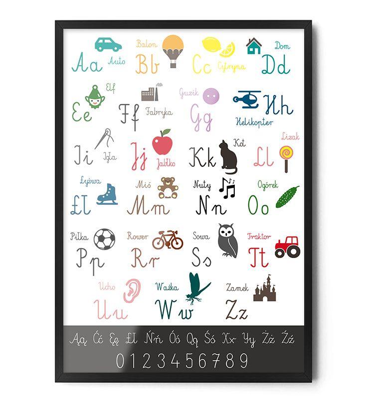 www.foxartstudio.pl     #plakat #alfabet #plakatzalfabetem #literki #elementarz #dopokojudziecka #dladzieci