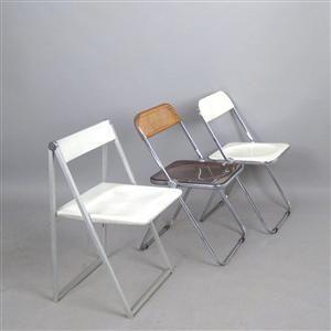 Ware: 3952478 Giancorlo Piretti, Klappstühle Modell Plia + Klappstuhl Interlübke (3)