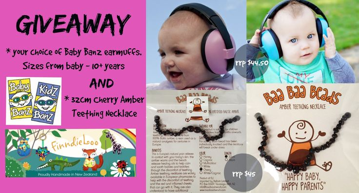 Enter to win: WIN: Earmuffs and an Amber Teething Necklace.  | http://www.dango.co.nz/s.php?u=H8dY1kUN1660