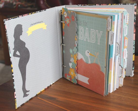 It will be fun to document your entire pregnancy with this informative fill-in organizer, checklist, journal. It has 200+ pages plus 80+ journaling/photo cards, lots of pockets, information sheets and photo pages to remember every part of your pregnancy. There are 12 sections to help you stay organized and on track. Our Mom's Touch at Etsy #ourmomstouch
