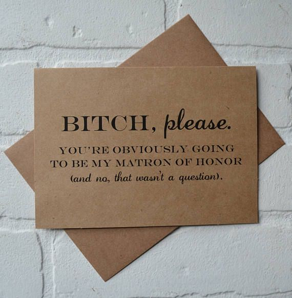 BTCH PLEASE Will you be my maid of honor Card Bridesmaid Card