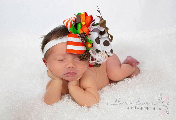 Big Bow Hair Bow, Thanksgiving Bow,  Baby Bow, Newborn Bow, Toddler Bow, Hair Bow, Baby Girl Bow, Baby Headband, Toddler Headband by LilacandOlive on Etsy https://www.etsy.com/listing/116664981/big-bow-hair-bow-thanksgiving-bow-baby