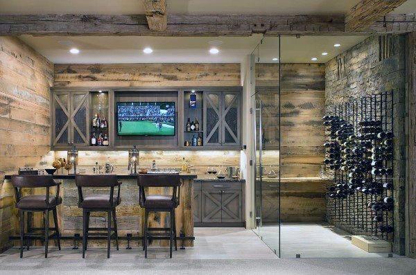 Wine Cellar Rustic Basement Design Ideas Winevineyards In 2020