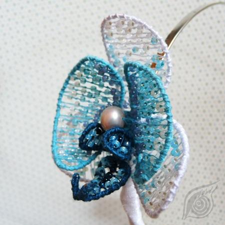 headdress Orchidea, nycrame; by Nady