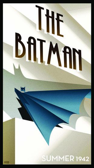 The Batman 1942 - Art Deco poster