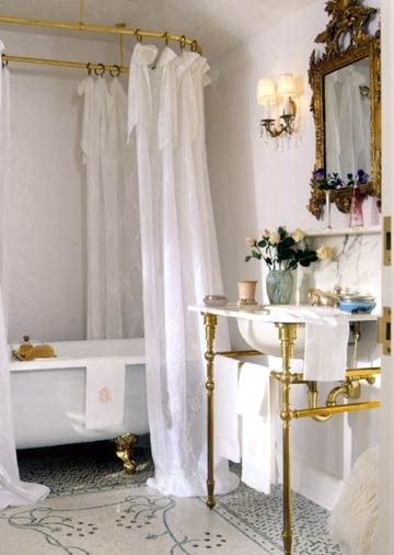 40 Best Images About Clawfoot Tub Shower On Pinterest