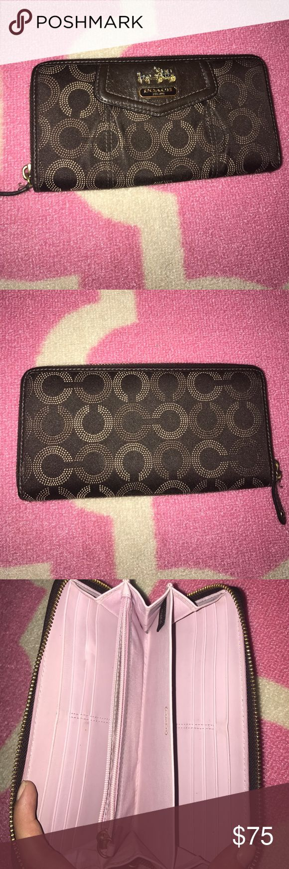 Authentic Coach Wallet Brown coach wallet in great condition. Feel free to ask any questions or make an offer! Coach Bags Wallets