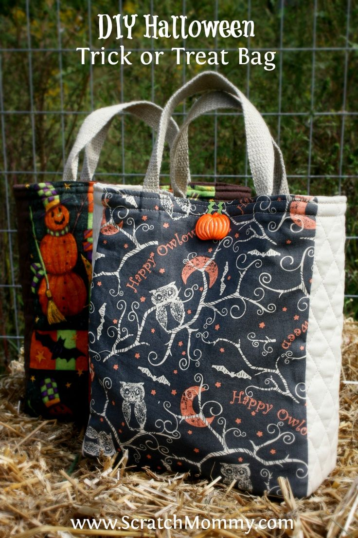 Make Halloween special with this DIY Halloween Trick Or Treat Bag Sewing Project. A fabulous project for beginners.