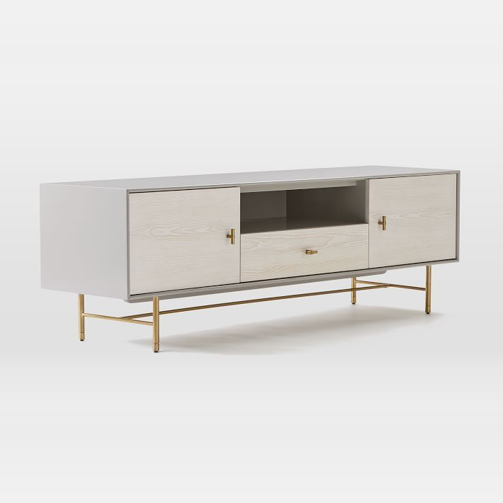 Modernist Wood Lacquer Media Console 68 Winter Wood Winter Wood Media Console Oversized Furniture