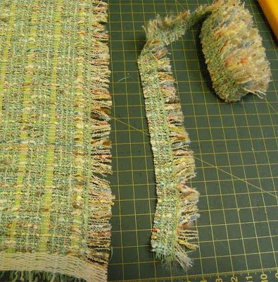 Basically - cut a straight edge, fray the fabric to the desired depth, then zigzag the edge to stop it fraying any further. Cut the strip off...Quilt, Sew, Sew Sue: July 2009