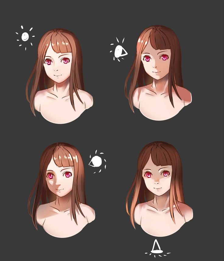 Simple Face Lighting Reference by SYSEN -                                         How to Art