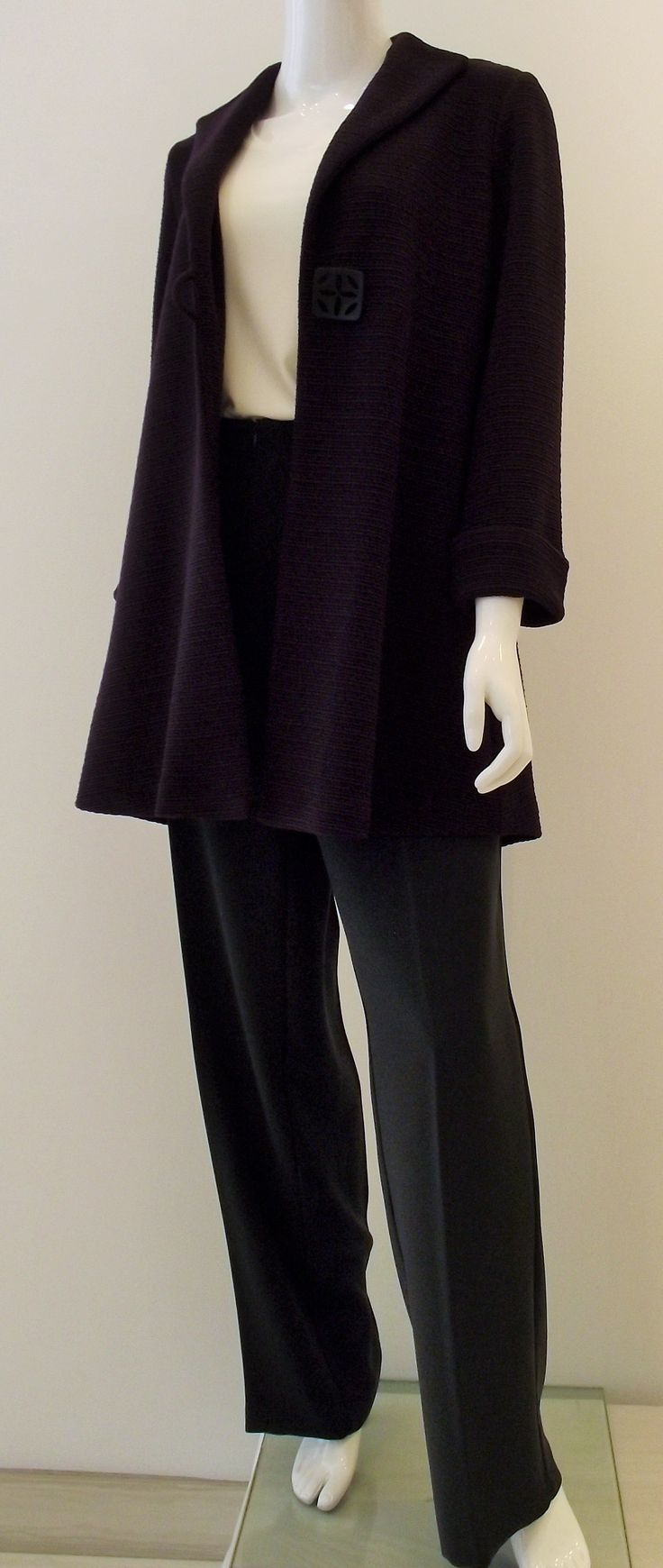 Beautiful purple jacket by Ribkoff also sold in black