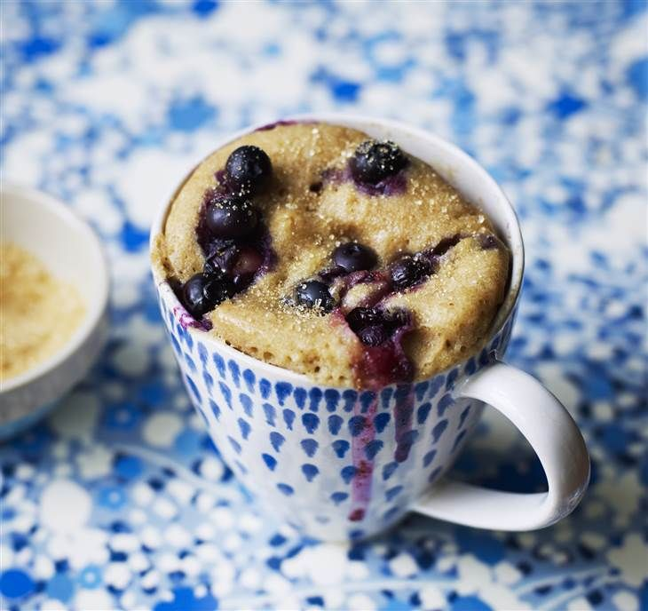 Blueberry Mug Cake from Mug Cakes by Mima Sinclair, photos by Tara Fisher (Kyle Books)