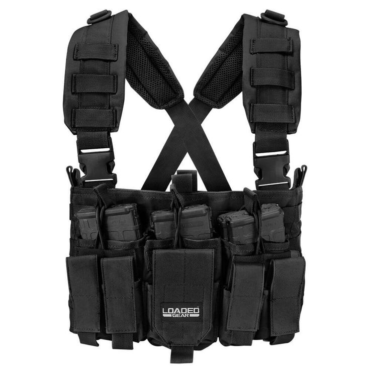 Tactical Chest Rig VX-400 Loaded Gear Black - Tactical Vests - Loaded Gear