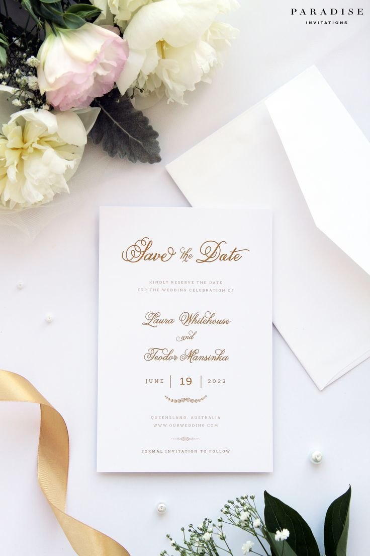 sending wedding invitations months before%0A Laura Gold and Navy Save the Date cards  Modern Calligraphy Save the Date  card