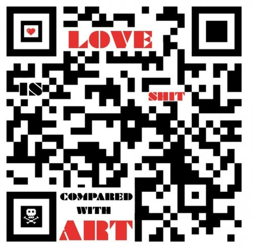 """""""Art is shit / compared with love"""" - John Kerswell's submission to the Take It & Run art project – where creative people from all disciplines do cover versions of my Pen Paper Pause sketched thoughts"""