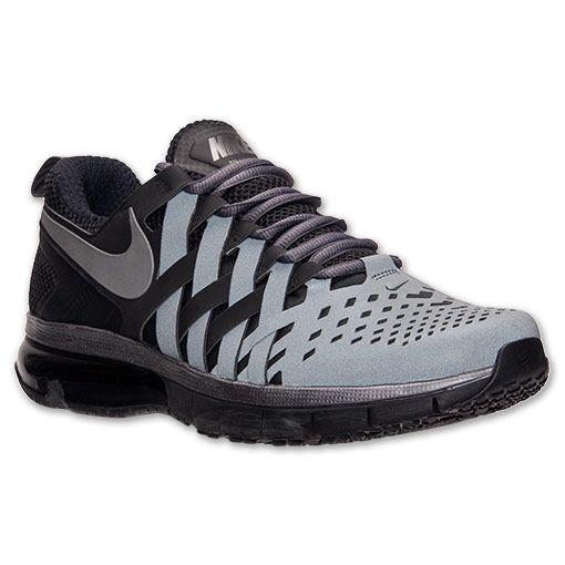 Men's Nike Fingertrap Air Max Training Shoes  FinishLine.com   Metallic Dark Grey/Black
