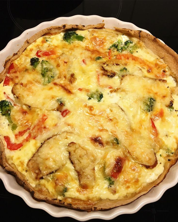 recept paj: Libabröd. Nobleschicken (curry) kyckling. Broccoli. LÖK. Paprika. 3ägg. 2dl mjölk.(elr matlagningsgrädde). 75g mager riven ost. Lite minut-kyckling. Riven ost. #nobleschicken #paj #ägg #äggstanning #recept #liba #matlåda #wrap #viktväktarna fav