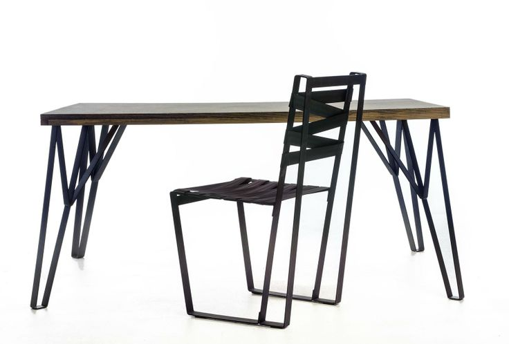 Theros table and Theros black chair by Danai Gavrili