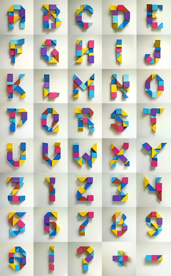 Letters made from wooden blocks - a paper version would be lovely. Maybe a project for later.