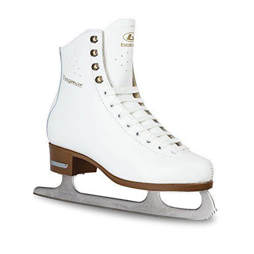Botas Womens White Leather Ice Skates  DAGMAR  Handmade in Europe Czech Republic Adult Size 95 * Check this awesome product by going to the link at the image. (Amazon affiliate link)
