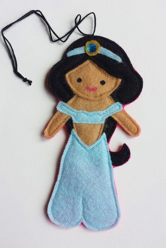 Jasmine Aladdin Disney Princess Felt Air Freshener / Christmas Ornament / Felt Doll / Essential Oils Air Freshener on Etsy, $8.99