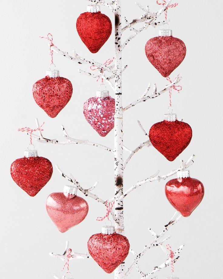 Valentine 39 S Day Decor Glitter Heart Ornaments Be Our