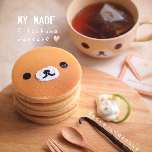 日本人のおやつ♫(^ω^) Japanese Sweets リラックマホットケーキ Rilakkuma Pancake. Blippo.com Kawaii Shop ❤