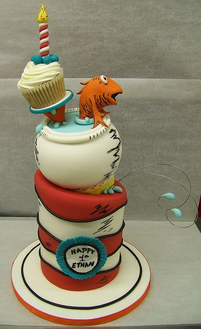 Dr Suess: Cat, Dr. Suess Cakes, Hats Cakes, Cute Cakes, 1St Birthday, Seuss Cakes, Parties Ideas, Dr. Seuss, Birthday Cakes