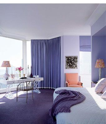Purple Bedroom Decorating Ideas With Curtains And D Picture