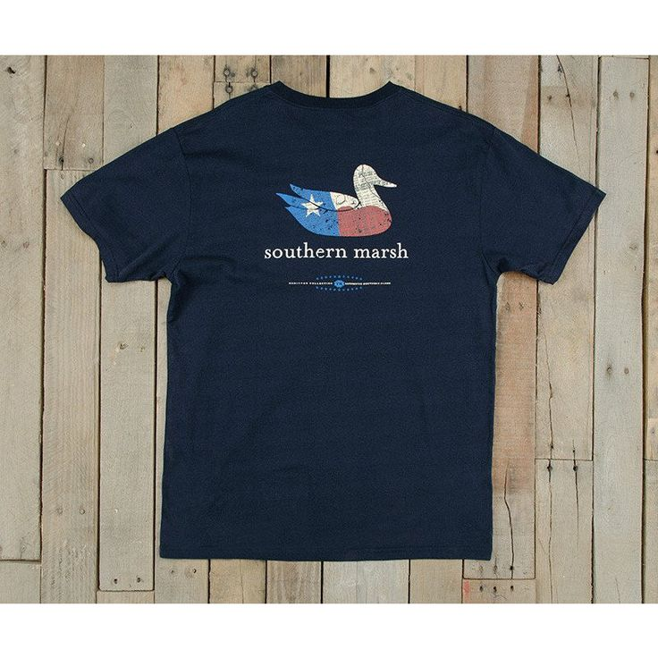 Southern Marsh Authentic Heritage Texas Tee - Navy