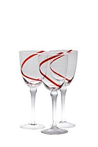 3 PACK SWIRL RED WINE GLASS