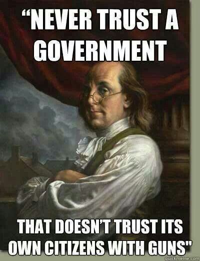 I don't think Benjamin Franklin was concerned with his citizens walking into a school and shooting their classmates. Every week.
