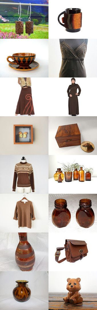 Brown by styledonna on Etsy--Pinned+with+TreasuryPin.com