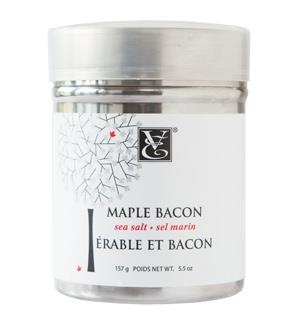 Maple #Bacon Sea Salt. Sweet and savoury with soy bacon...yum!