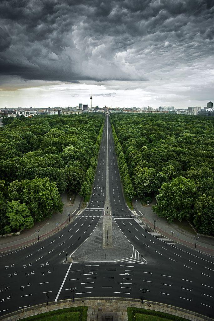 The Tiergarten in Berlin, shot from the top of the Siegessäule.