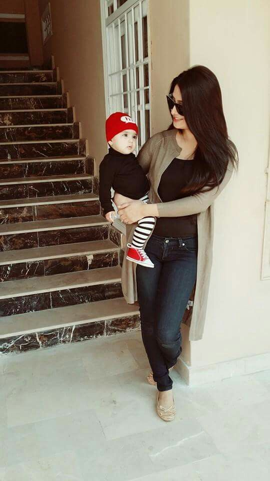 Aiza with baby hoorain