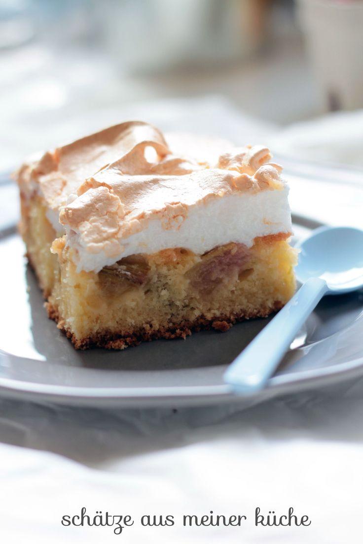 Rhabarber-Baiser-Kuchen mit Emma ♥ Rezept