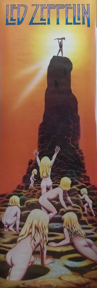 Led Zeppelin  Houses Of The Holy Door Poster 1988