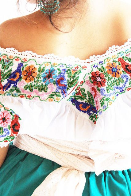 mexican typical blouses   Fine chaquira Mexican traditional Indigenous blouse   Flickr - Photo ...