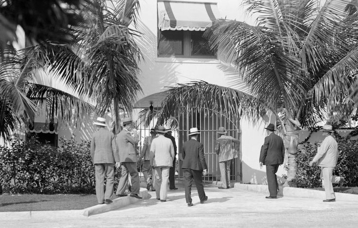 Al Capone's 1930 Dade County Sheriff's department raiding Capone's house in Miami.