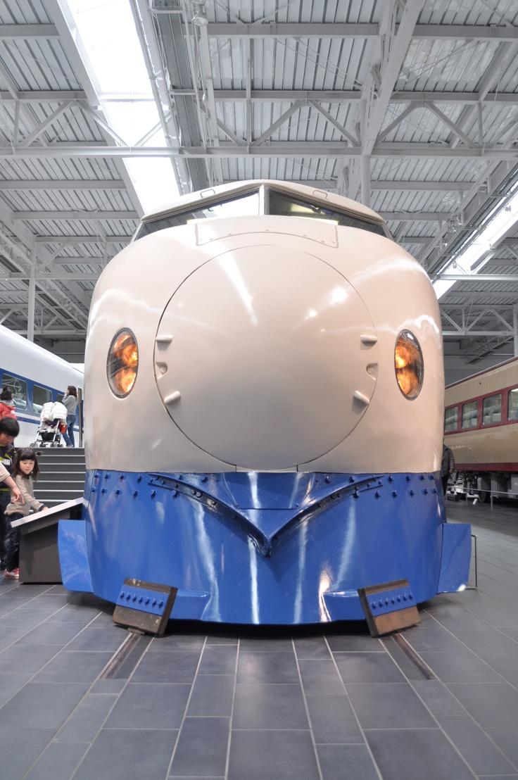 Tokaido Shinkansen 0 series, the original Ssinkansen, at SCMAGLEV & Railway Park, Nagoya, Japan.