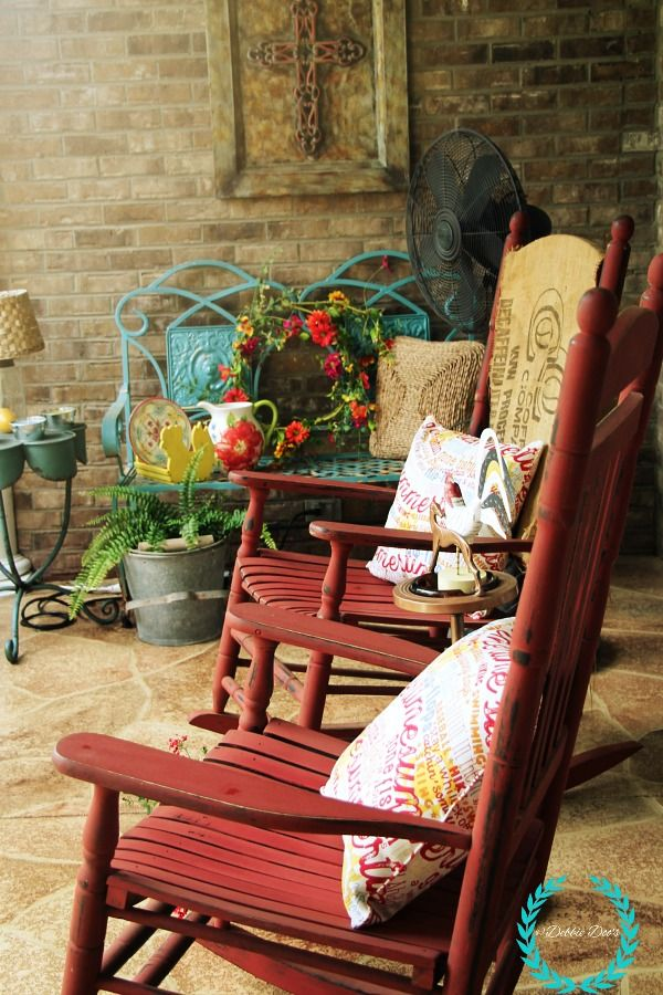 Whimsical Southern Style Porch Porch Decorating Outdoor