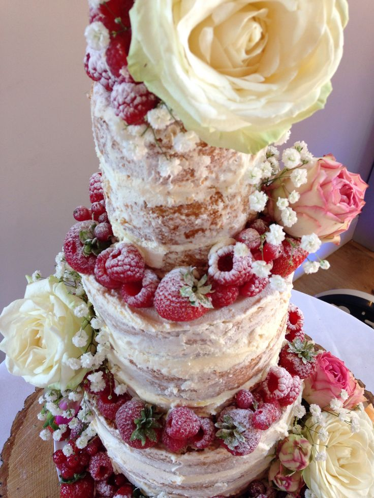 mary berry cake wedding naked cake at hyde barn nakedcake flowers pretty n a k e d ca k. Black Bedroom Furniture Sets. Home Design Ideas